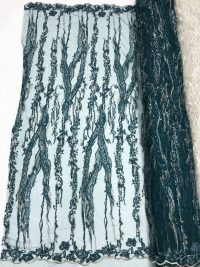 green beaded lace