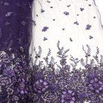 ручная работа из бисера кружева фиолетовая кружевная ткань