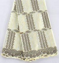 tela de encaje de algodón suizo