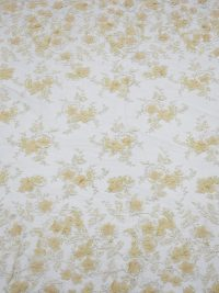 Tela de encaje con cuentas florales 3d