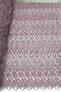rose pink 3d beaded bridal fabric