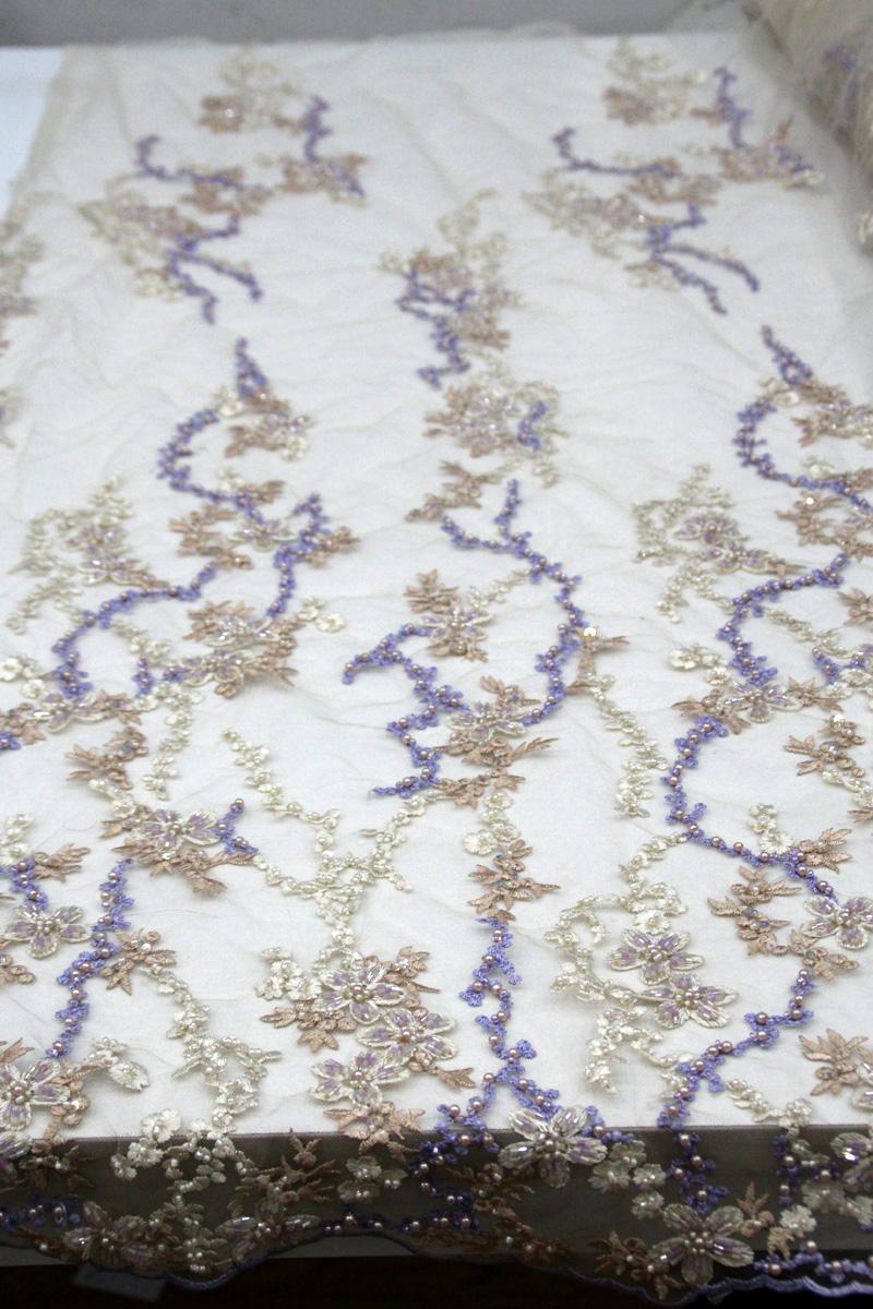 beaded fabric