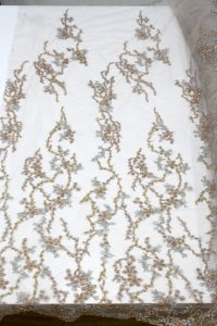 gold beaded lace