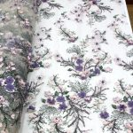 flower lace beaded fabric