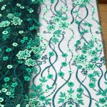 3D Floral Embroidery Lace