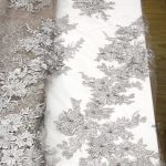 3d floral embroidery lace fabrics