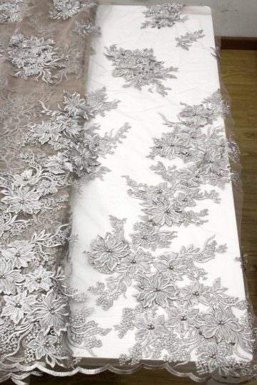 3d цветочная вышивка кружевной тканью