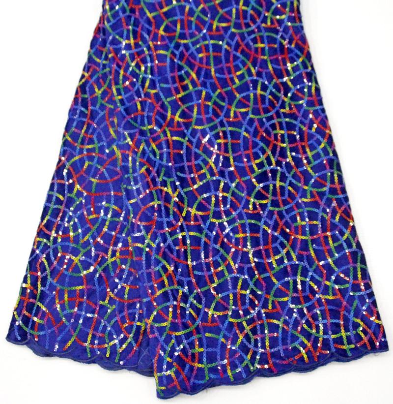 tela de encaje de terciopelo africano