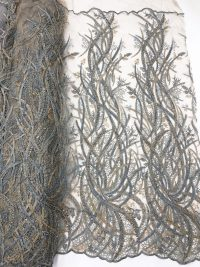 champagne beaded lace handwork luxury fabric
