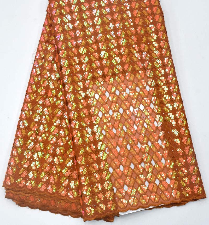 африканская кружевная ткань из органзы