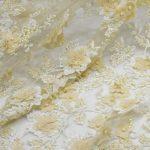 вышитая бисером кружевная ткань