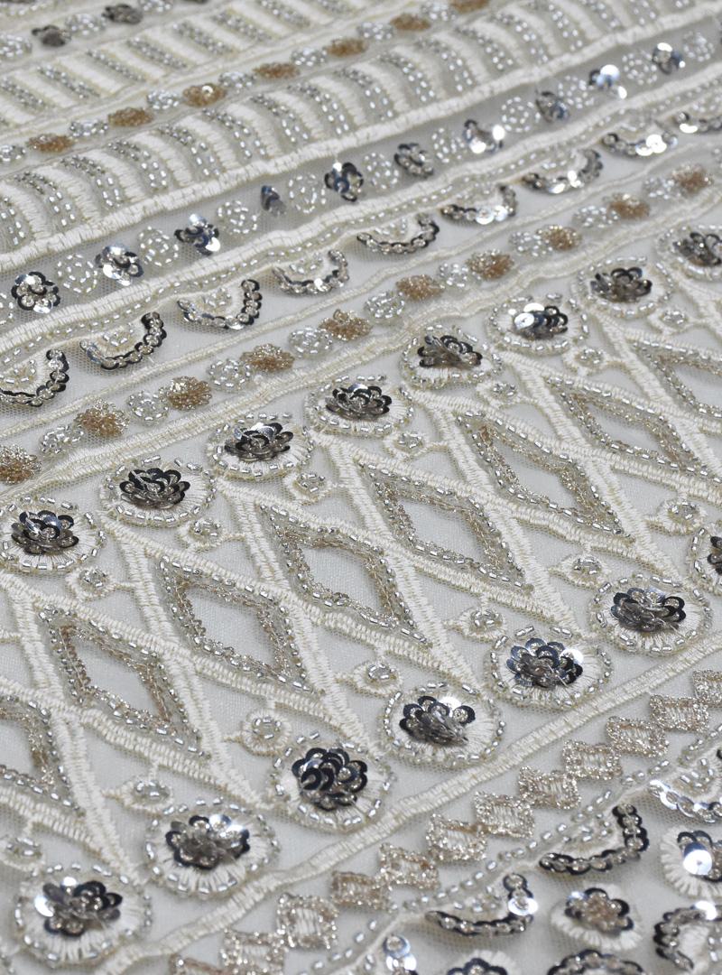 блестки вышитая бисером кружевная ткань