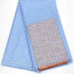Ткань из тюля с однотонной вышивкой и бисером