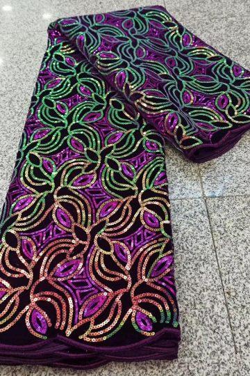 tecido de renda de veludo