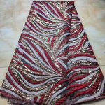 Elegant African Silk Brocade Fabric Metallic Floral Jacquard Kimono Fabric for Party