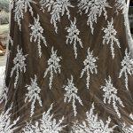 handwork beaded bridal dress fabrics