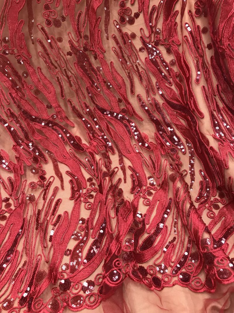 sequins embroidery fabrics