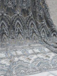 tecido de renda frisada