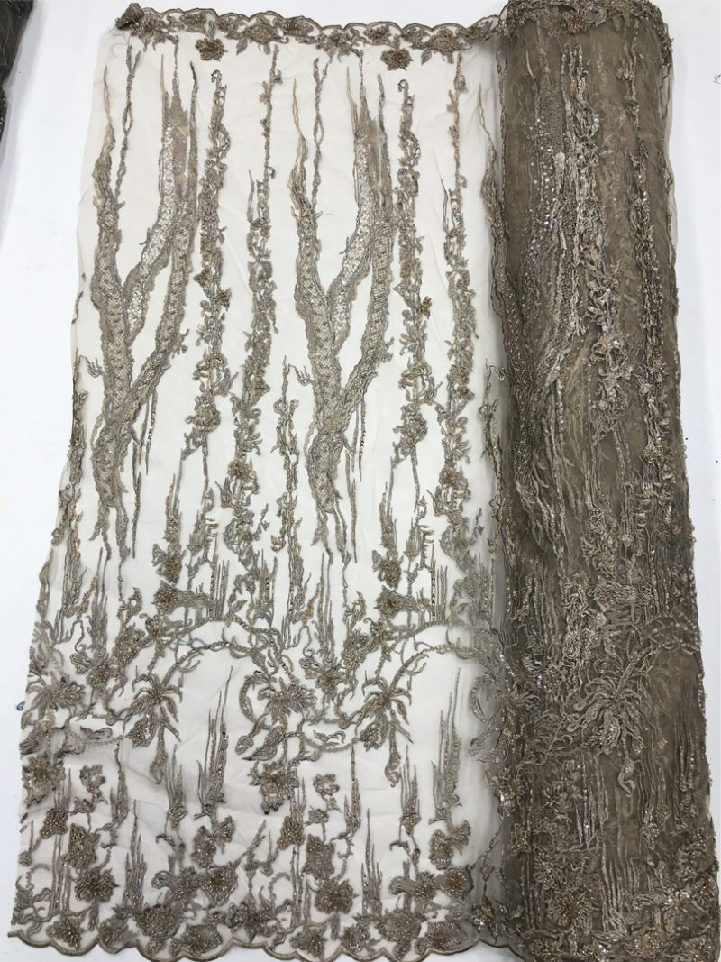 champagne gold beaded lace