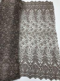 tecido de renda com miçangas feito à mão