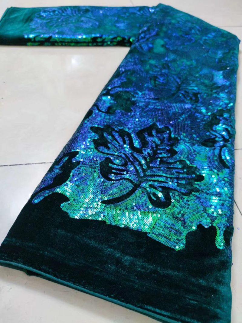 tela de encaje de terciopelo