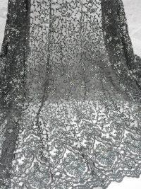 tecido de renda de noiva verde oliva
