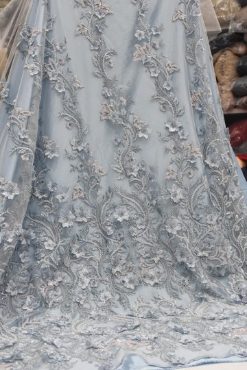 luxury 3d floral beaded lace