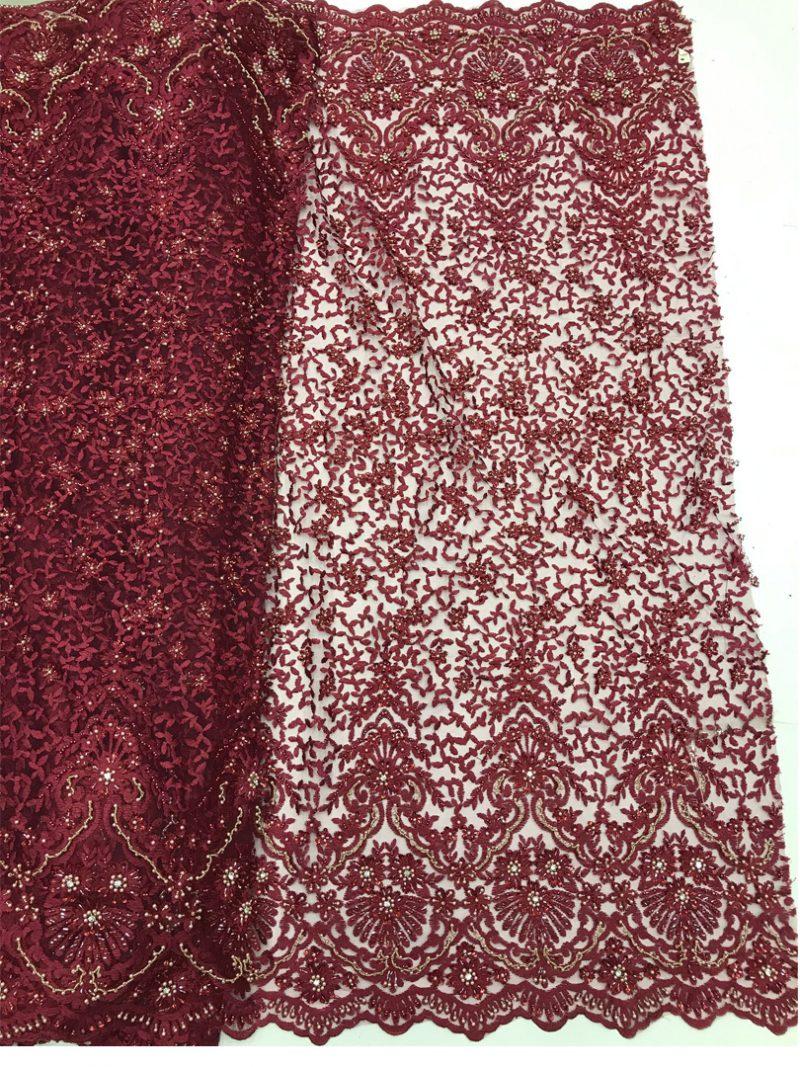 tecido de renda beadwork