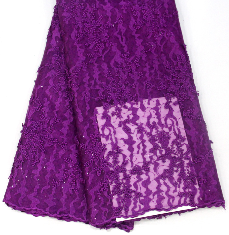 Multiple Styles African Wedding aso ebi Tulle Lace Fabric Embroidery
