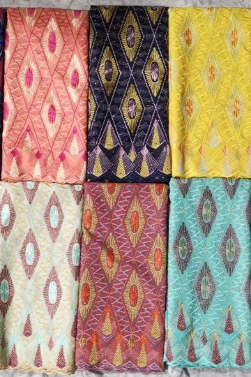 Gasa de algodón suizo de alta calidad, gasa de Austria, tela de encaje suizo, gasa de algodón suizo africano para prendas de vestir