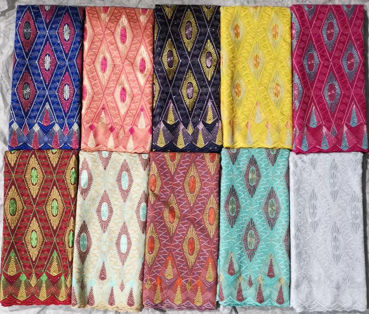 Voile de algodão suíço de alta qualidade Voile Áustria Voile Tecido de renda suíça Voile de algodão suíço africano para vestuário