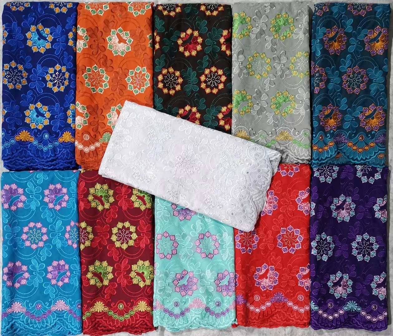 African Wedding Swiss Voile lace Fabrics for Party Dress