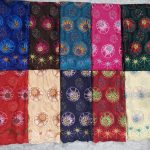 Tela de encaje suiza de moda de alta calidad con diseño floral tela de encaje de gasa de algodón pesado grande