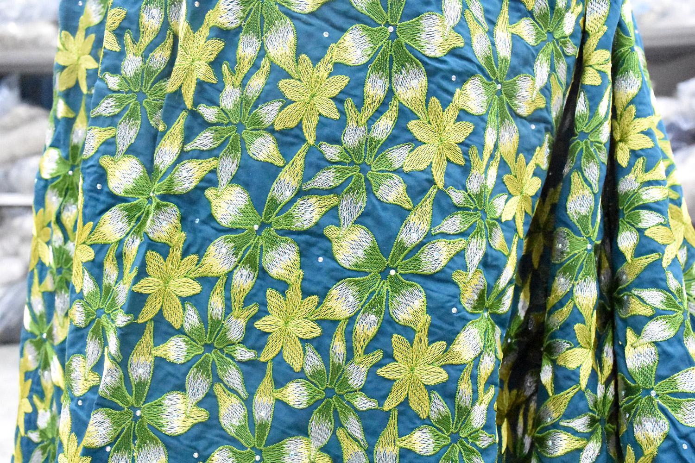 tissu de dentelle de coton suisse